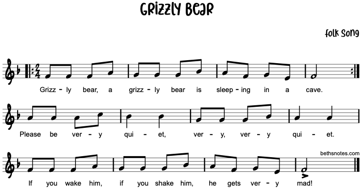 Grizzly Bear  Beths Notes