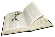 Open Dictionary And Reading Glasses