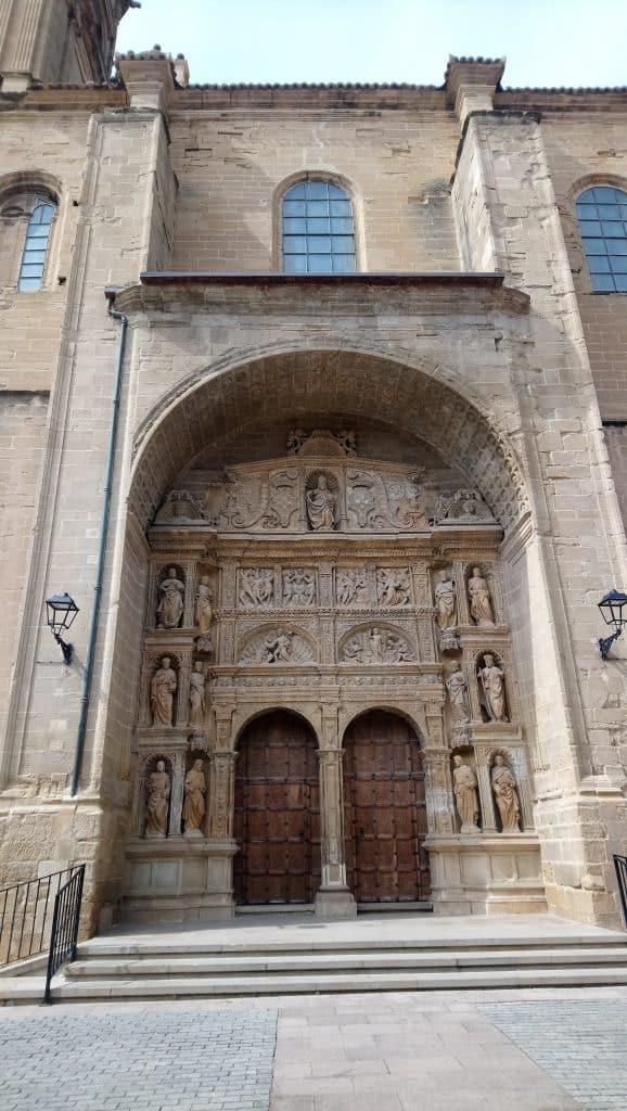 Church front in Haro