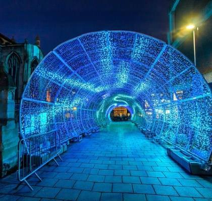Light Tunnel in Norwich