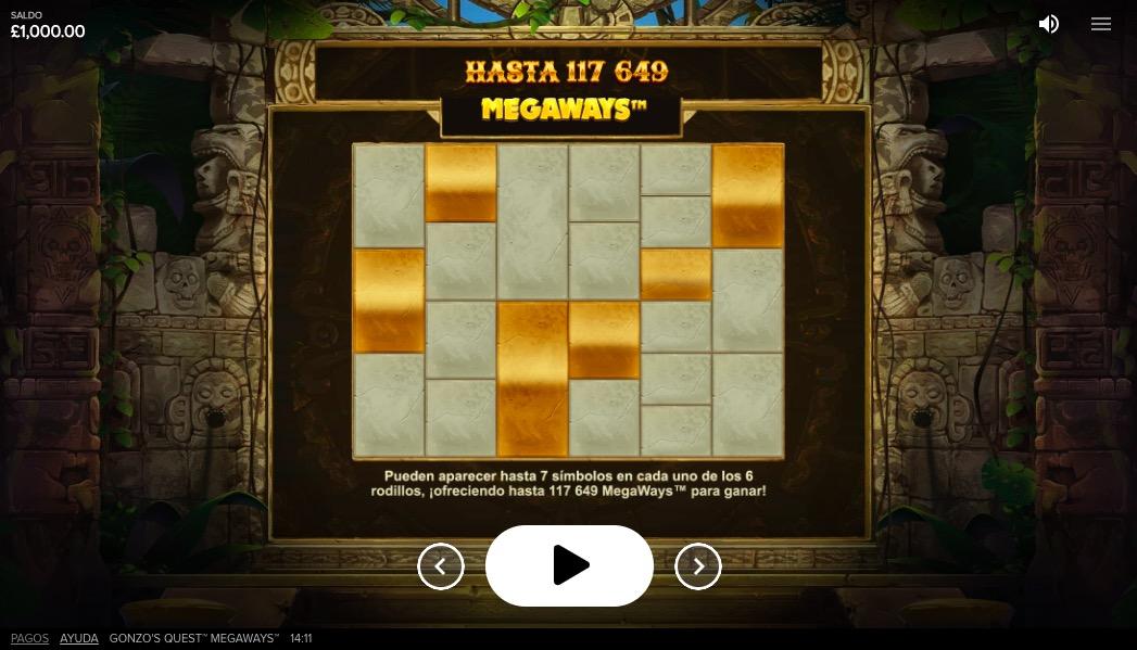 gonzos-quest-megaways-tabla-pagos