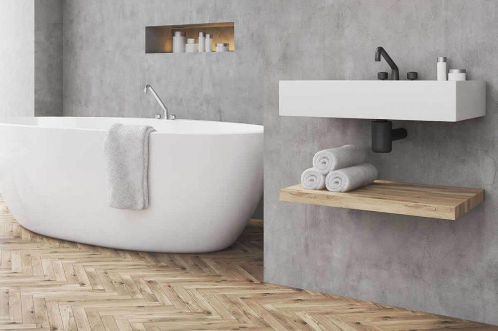 Stucwerk Badkamer Drogen : Tips voor de mooiste betonlook badkamer