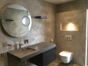 Badkamer met Beton Ciré