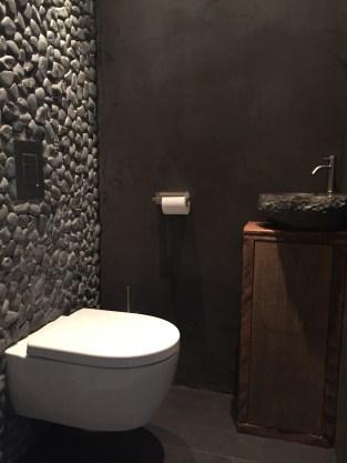 Beton Ciré in de badkamer: Toilet