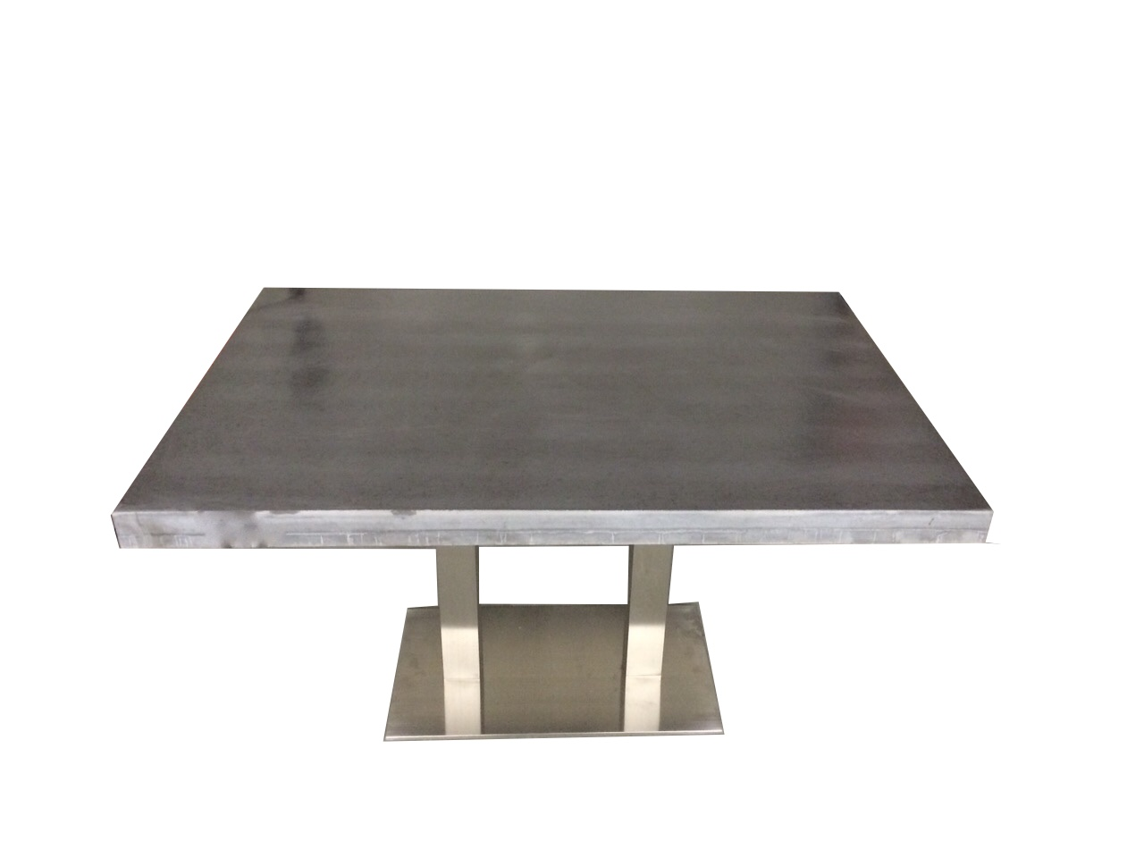 Rvs Onderstel Tafel : Betonlook tafel met rvs onderstel beton ciré centrum