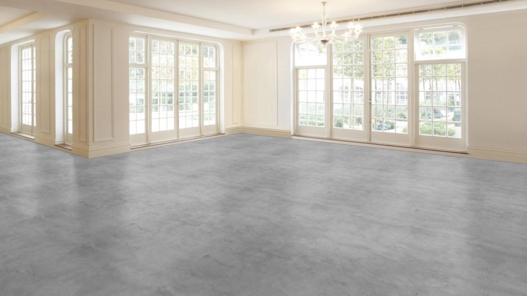 Grijze betoncire vloer