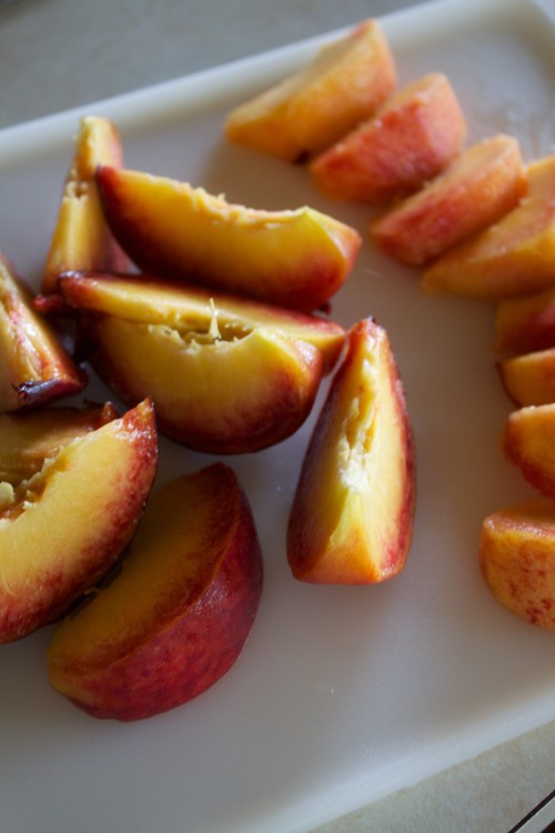 sliced peaches for summer cobbler