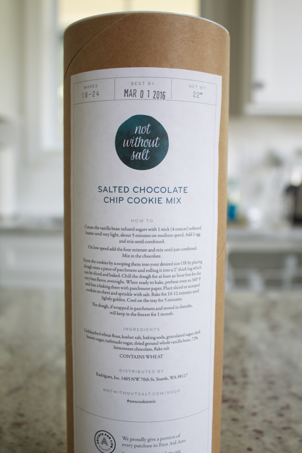 GIVEAWAY: Salted Chocolate Chip Cookie Mix!