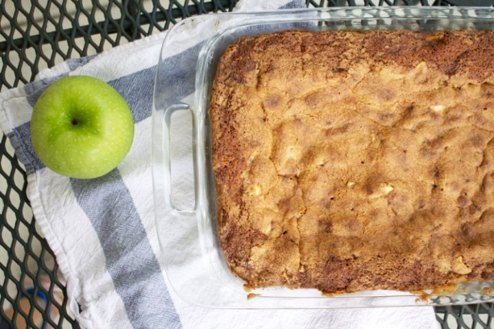 apple cake fresh from the oven
