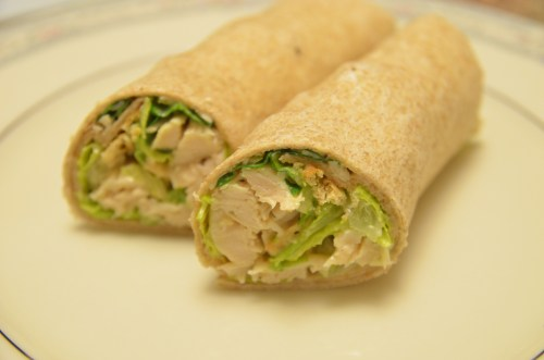 wrapped up chicken caesar wraps