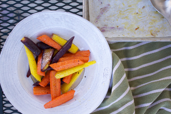 roasted carrots for dinner