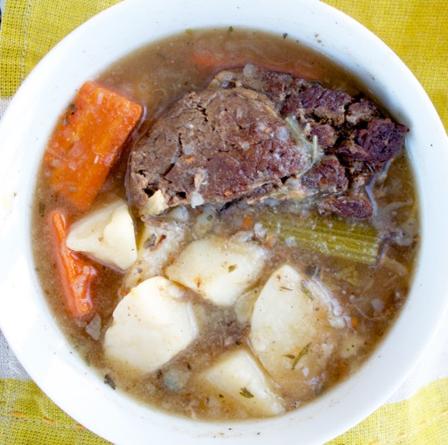 pot roast in a bowl