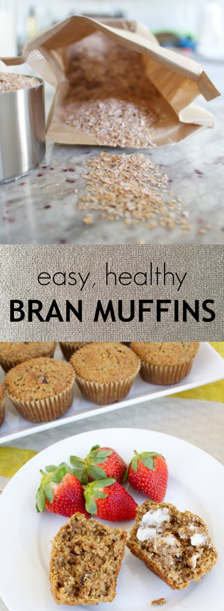 Healthy, whole-grain bran muffins are tender yet textured, get a burst of sweetness from raisins, and have a secret ingredient!