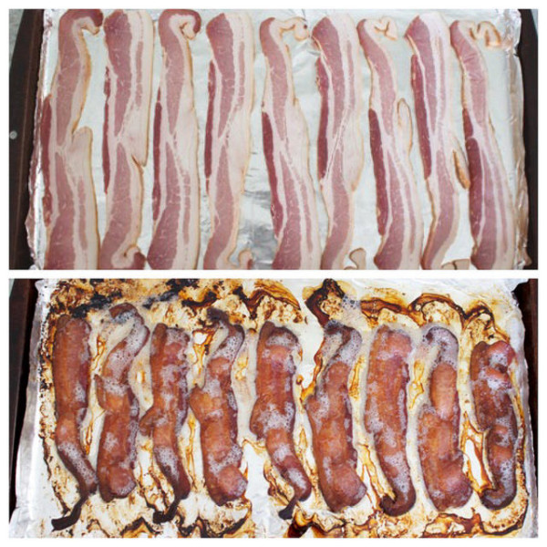 Cooking bacon in the oven is mess-free, and I love having a stash of bacon at the ready!