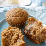 Healthy banana applesauce muffins are light, fluffy, and whole wheat!