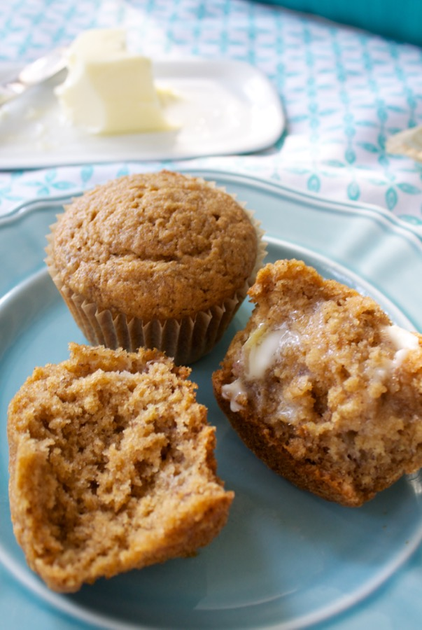 Healthy Banana Applesauce Muffins.