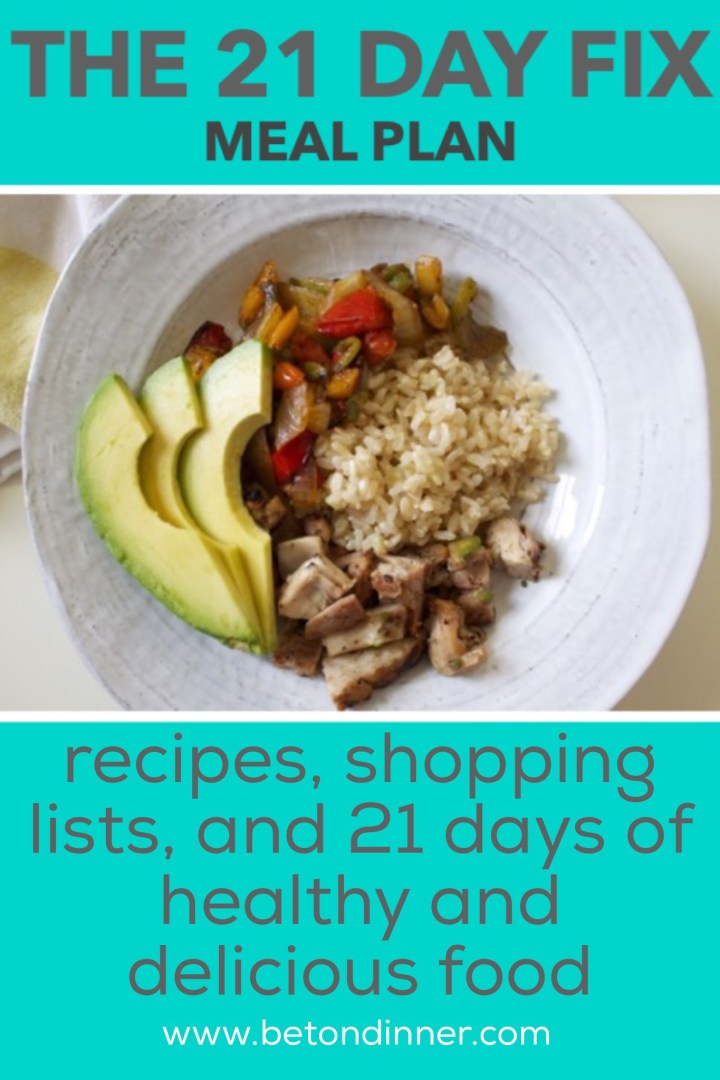 Download a complete 21 Day Fix meal plan with shopping lists, recipes, and healthy and delicious food you'll look forward to eating!