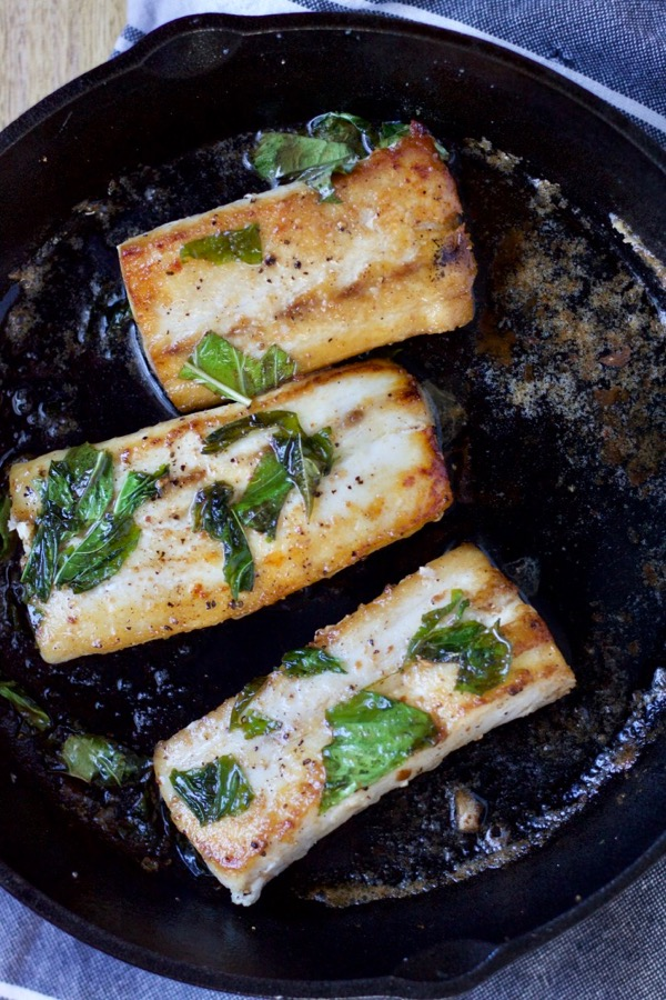 Pan-Seared Fish with Lime & Basil.