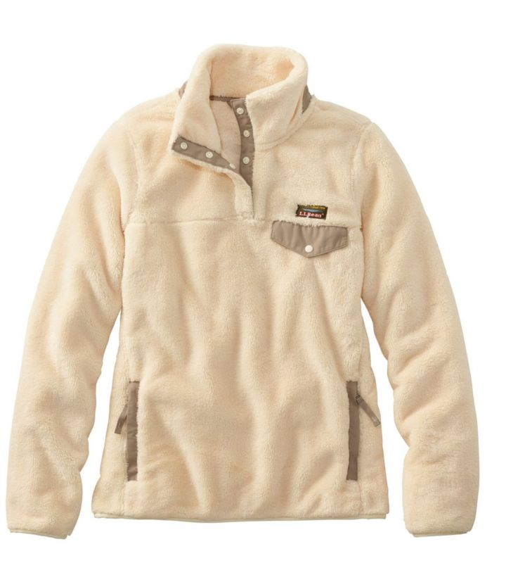 cream colored fleece pullover