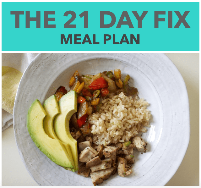 21 Day Fix Meal Plan & Shopping Lists
