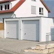 Doppelgarage, Stahlbeton, PKW-Schutz