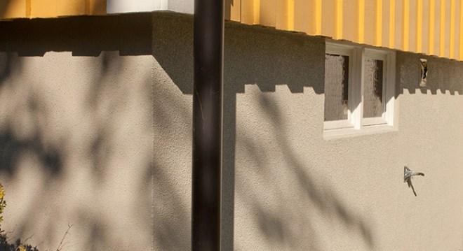 Husgrund renoverad med Marmocit sockelputs