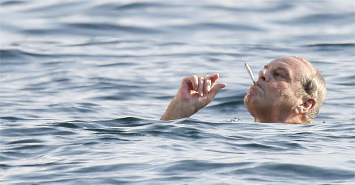 Image result for swimming while smoking picture
