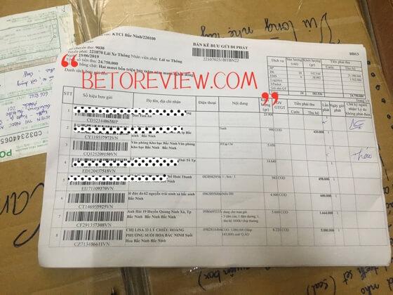 review postal parcel