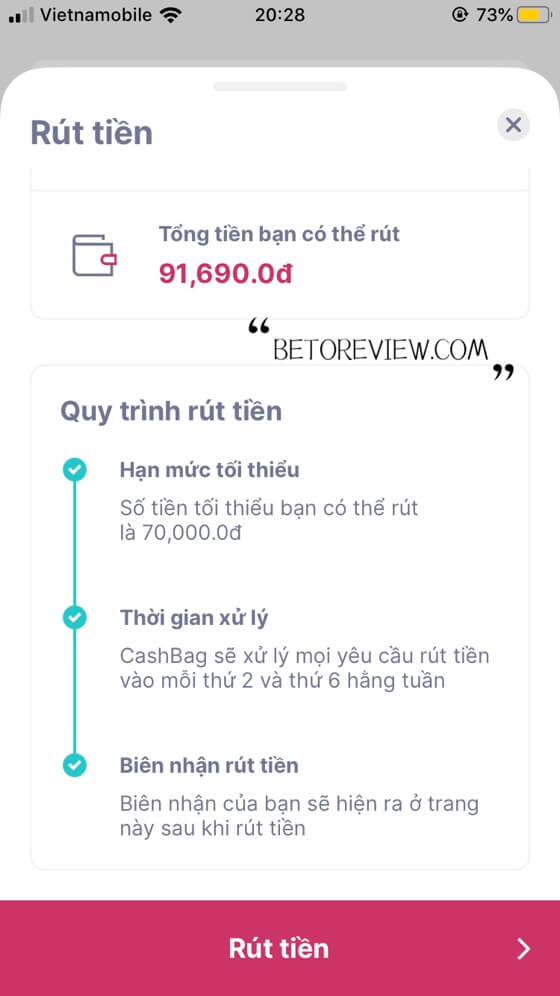 how to use cashbag to refund money