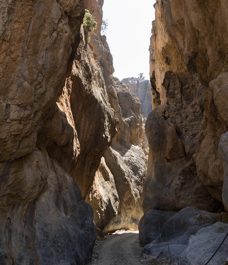 Durch die Schlucht in den Asterousia Bergen