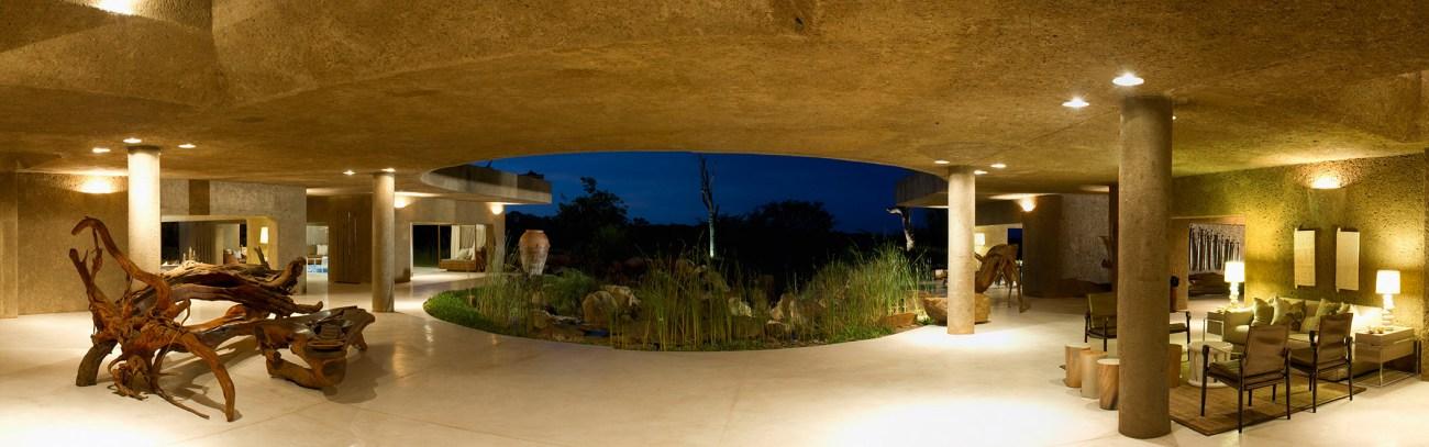 Sabi Sabi Earth-Lodge-Entrance-Panorama
