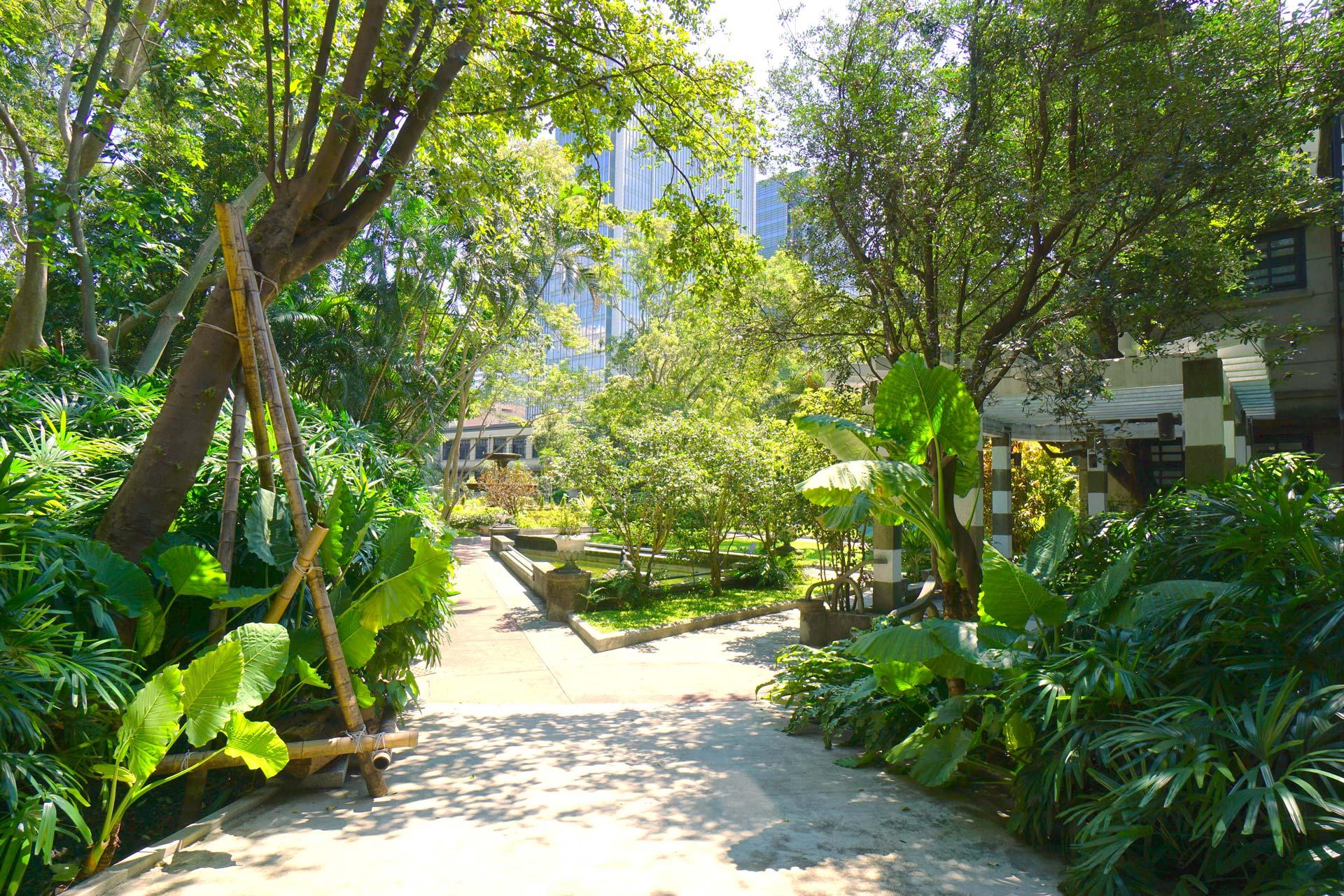 Blick in den Garten des Songshan Cultural and Creative Park