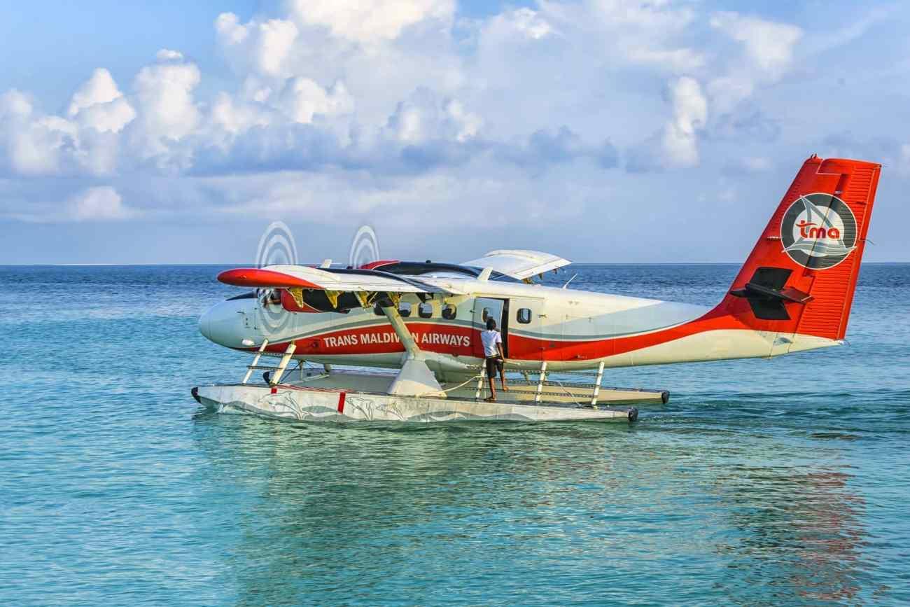 Wasserflugzeug bei den Malediven