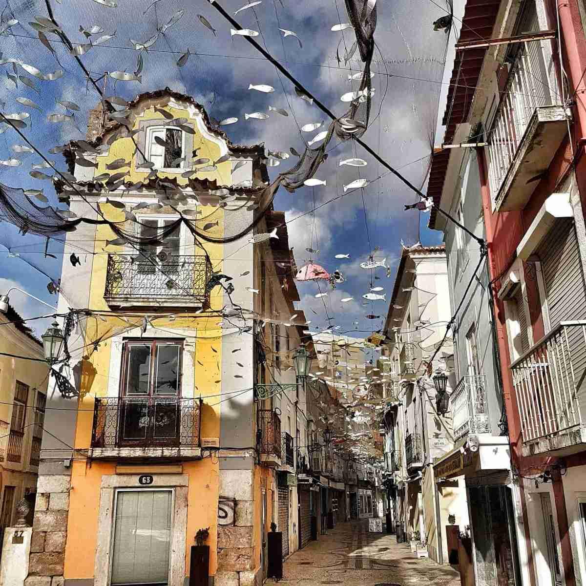 Fischnetz Deko in Lissabon