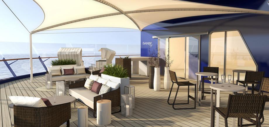 © TUI Cruises: Der Champagner Treff an Bord der Mein Schiff 6