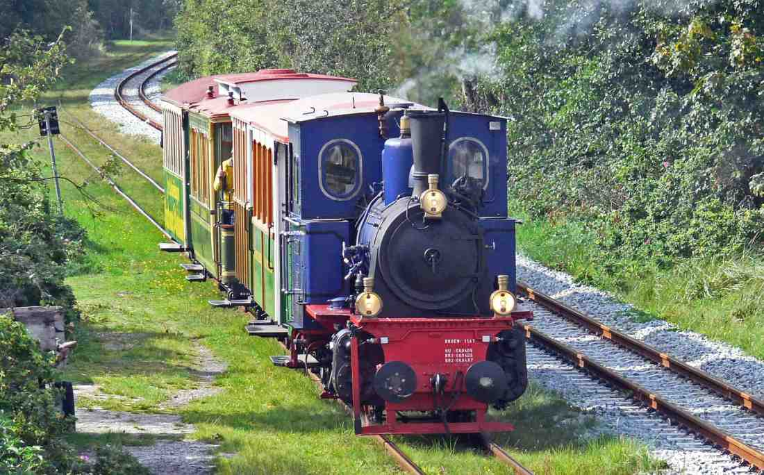 Eine Rundfahrt mit der Eisenbahn auf Borkum