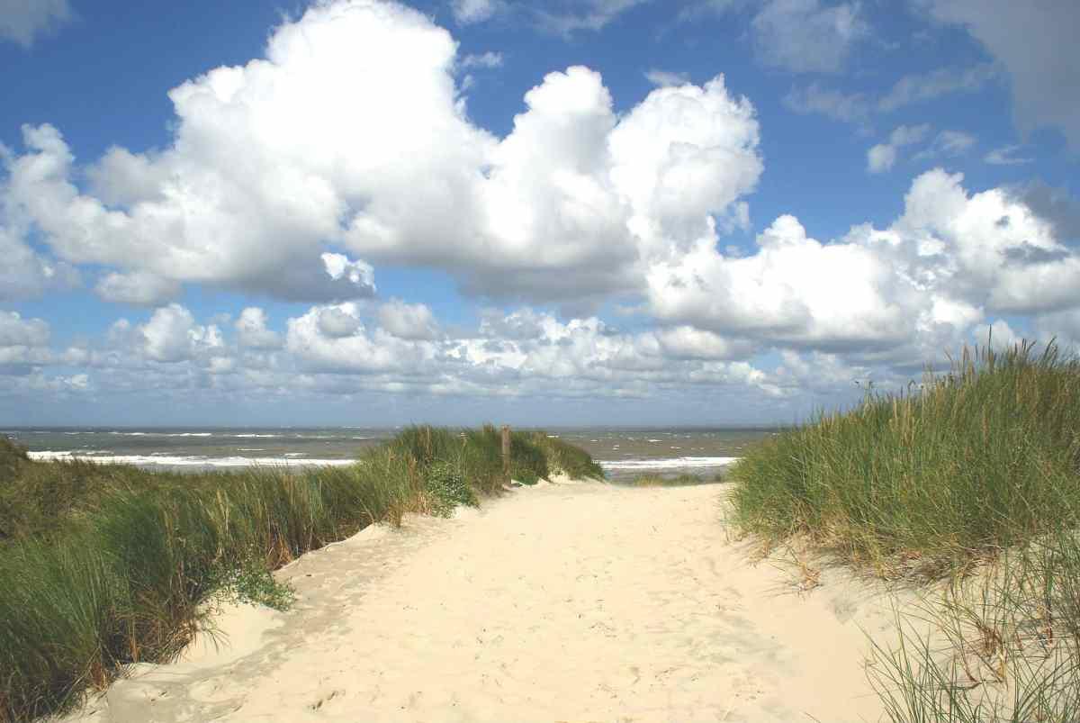 Spaziergang an Borkums Küste