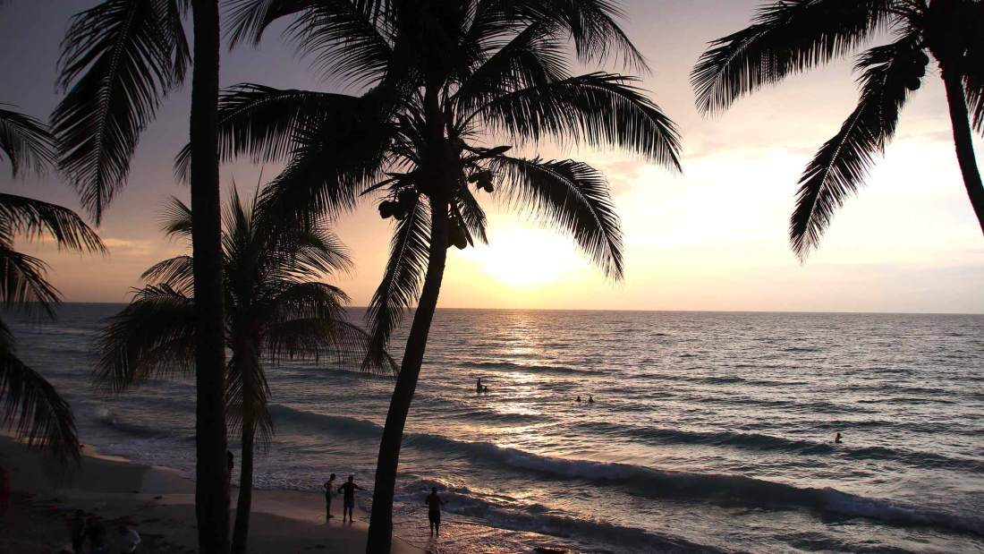 Kuba, Varadero, Palmstrand, Sonnenuntergang