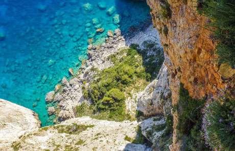 Die felsenreiche Küste Kretas