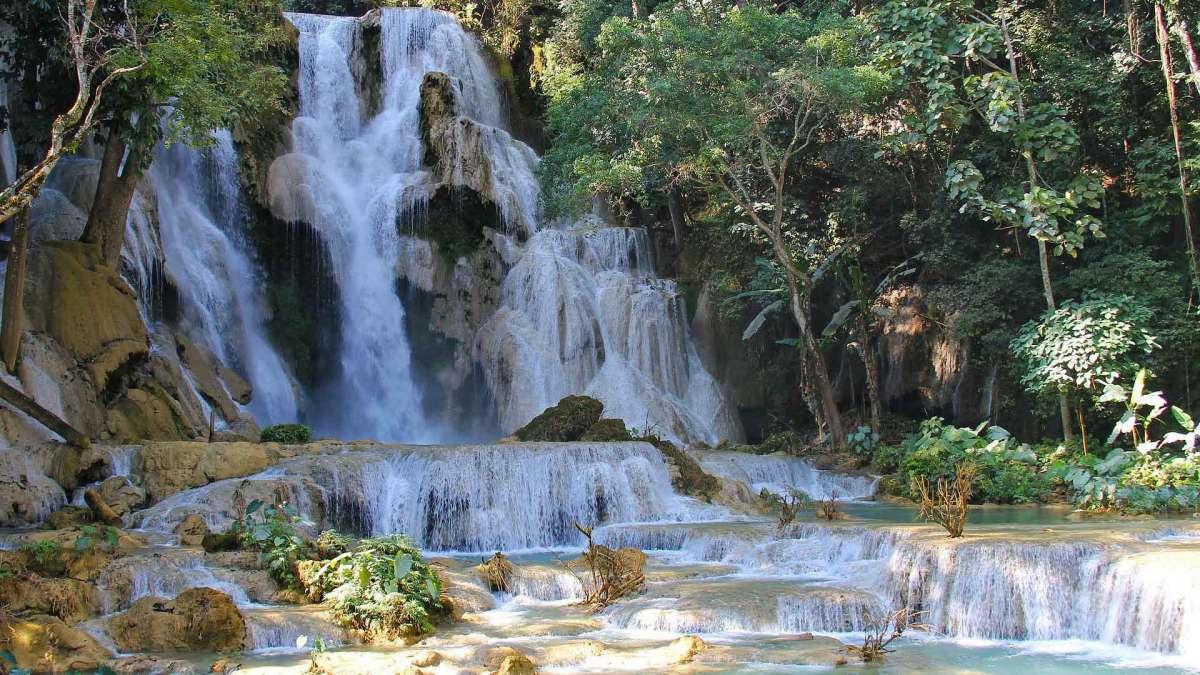 Die Wasserfälle in Luang Prabang