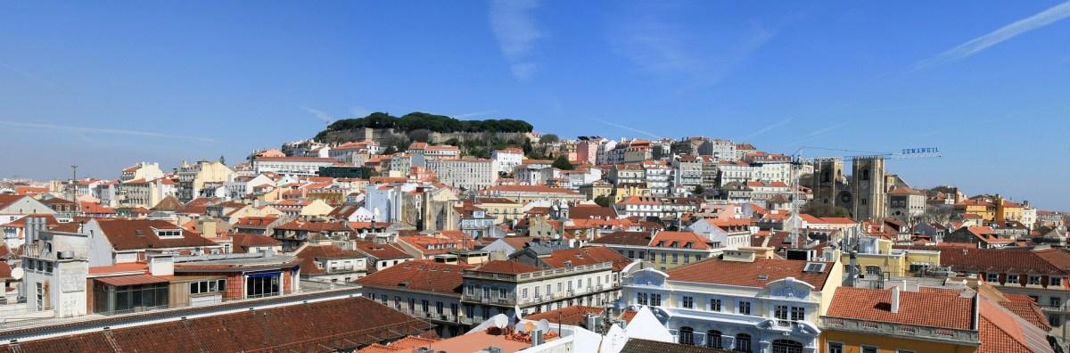 Lissabon Panorama mit Schloss