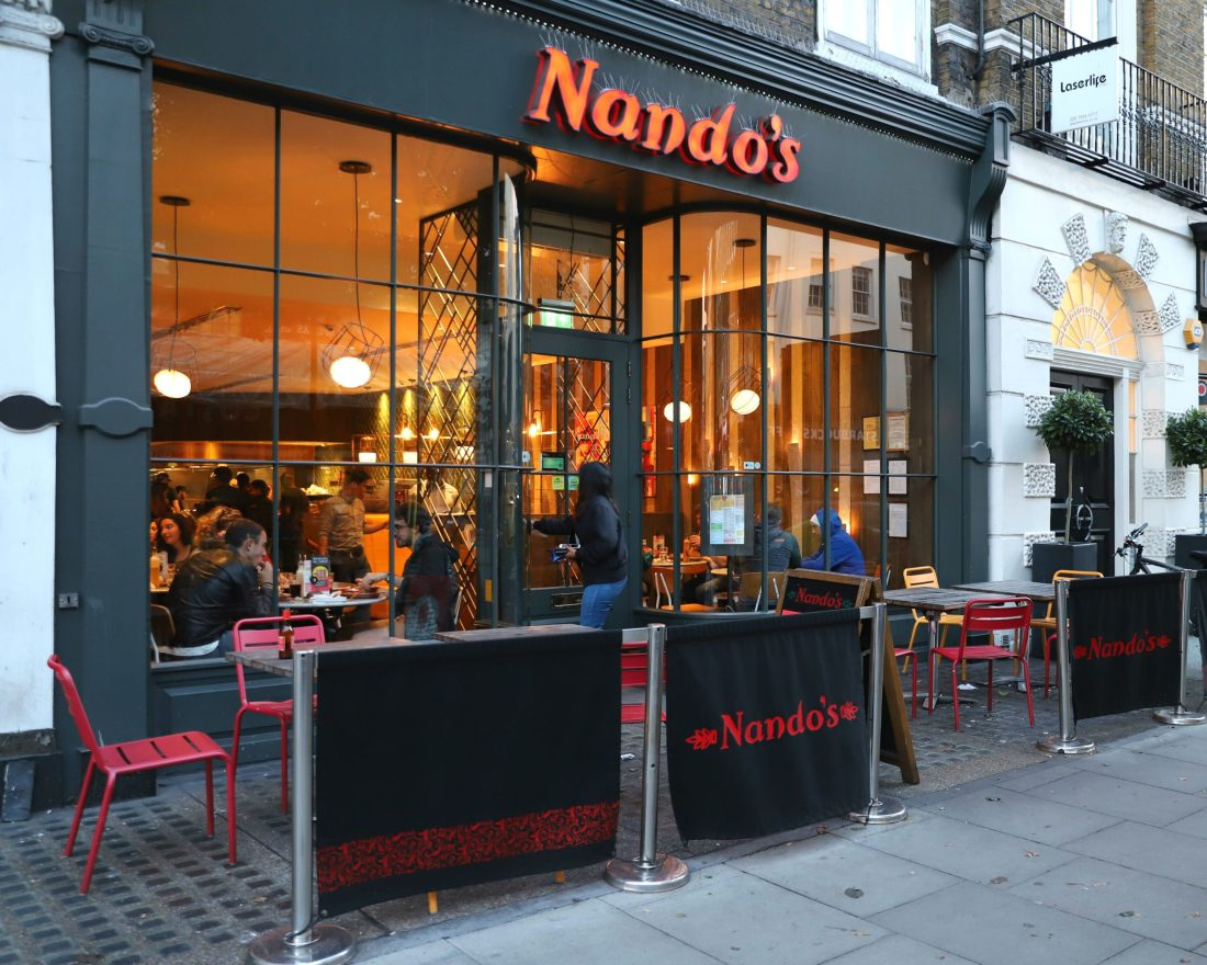 Das Nando's Restaurant in London