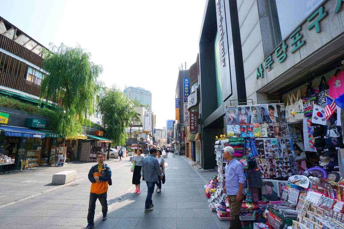 Einkaufsstraße von Insadong