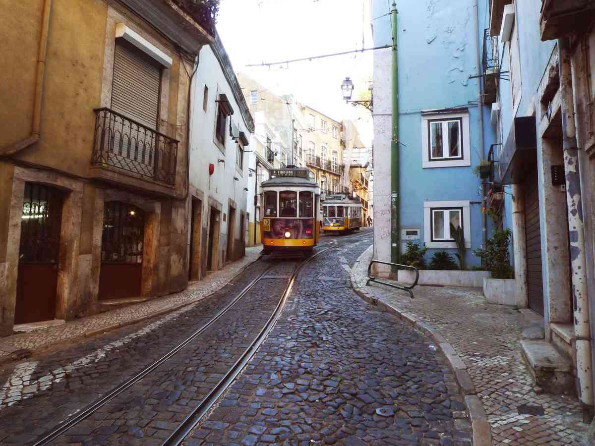 Historische Straßenbahnen in Lissabon