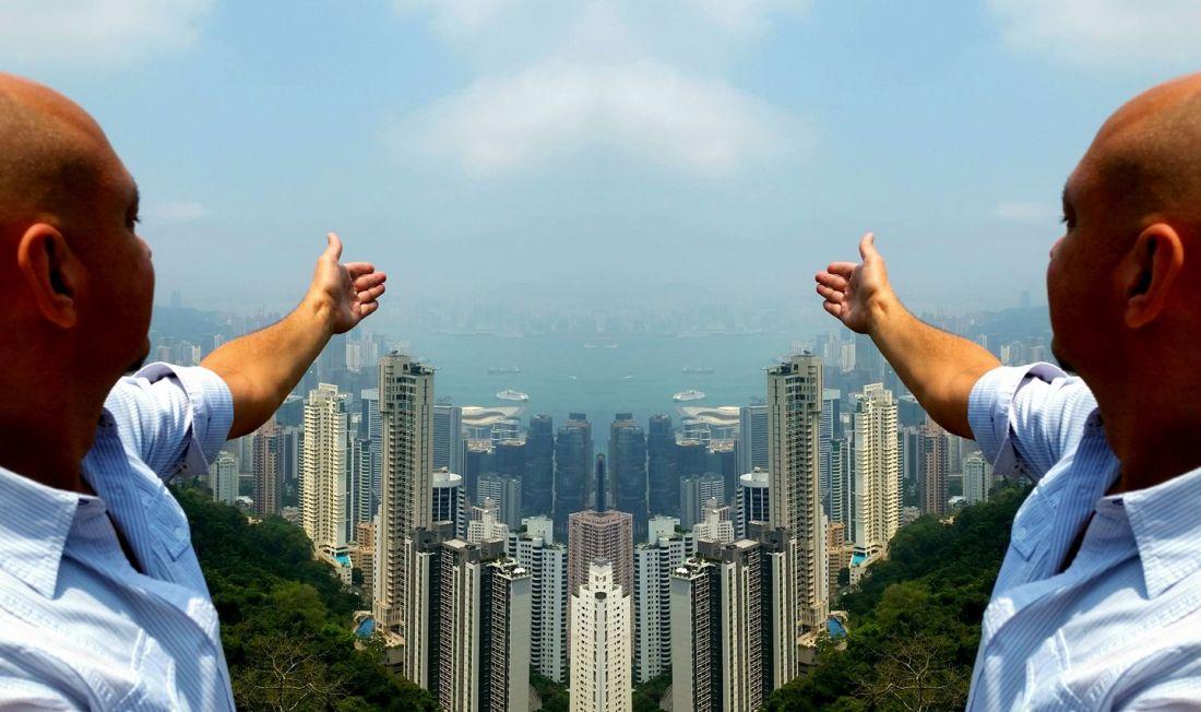 Axel auf dem Victoria Peak, Hongkong