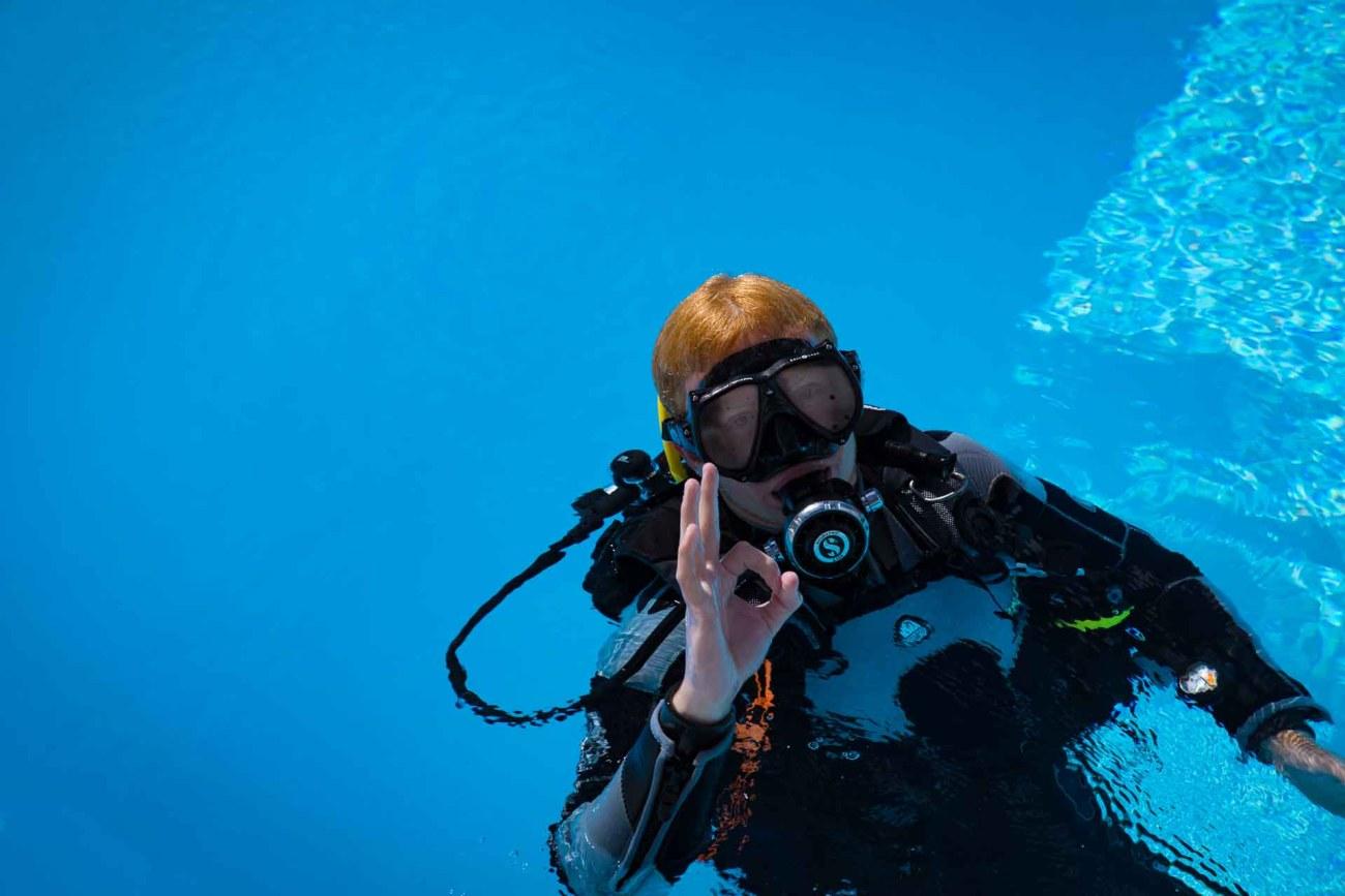 Aldiana Fuerteventura. Tauchtraining im Pool