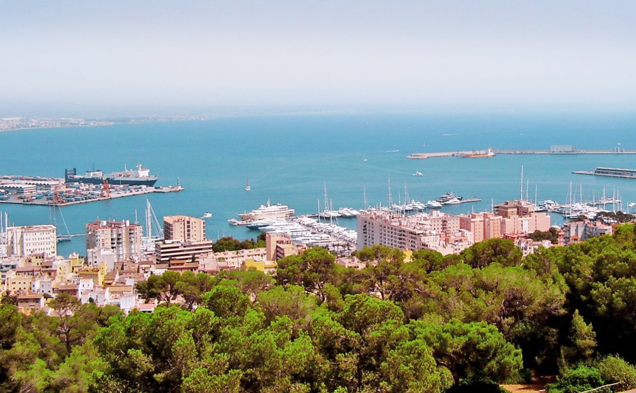 Blick über den Hafen von Palma de Mallorca