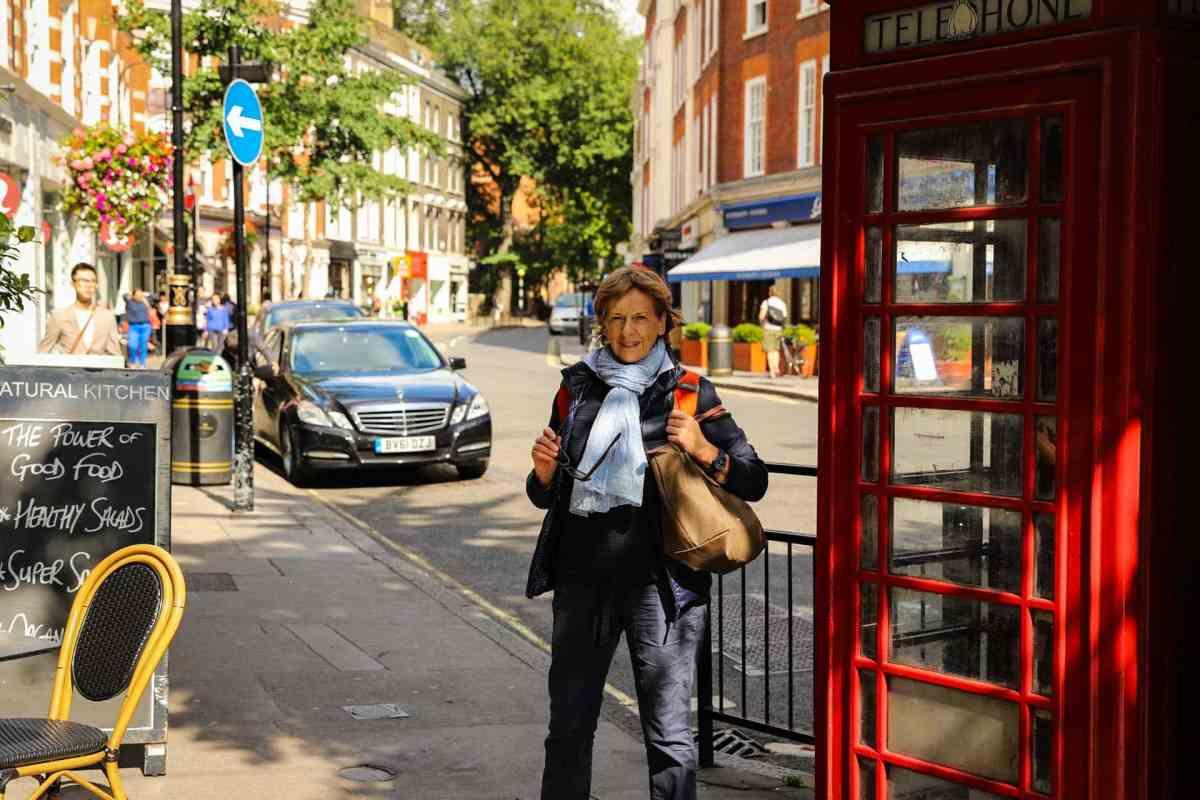 Telefonzelle London Stadtteil Marylebone