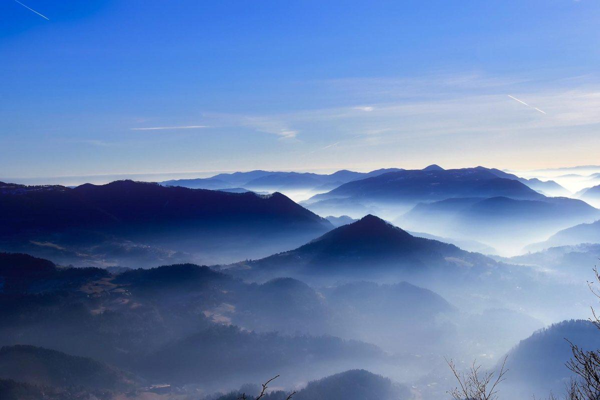 Slowenische Alpen, Fernsicht Alpe Adria Trail