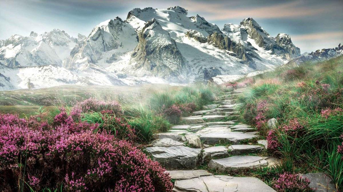 Beeindruckende Alpenlandschaft